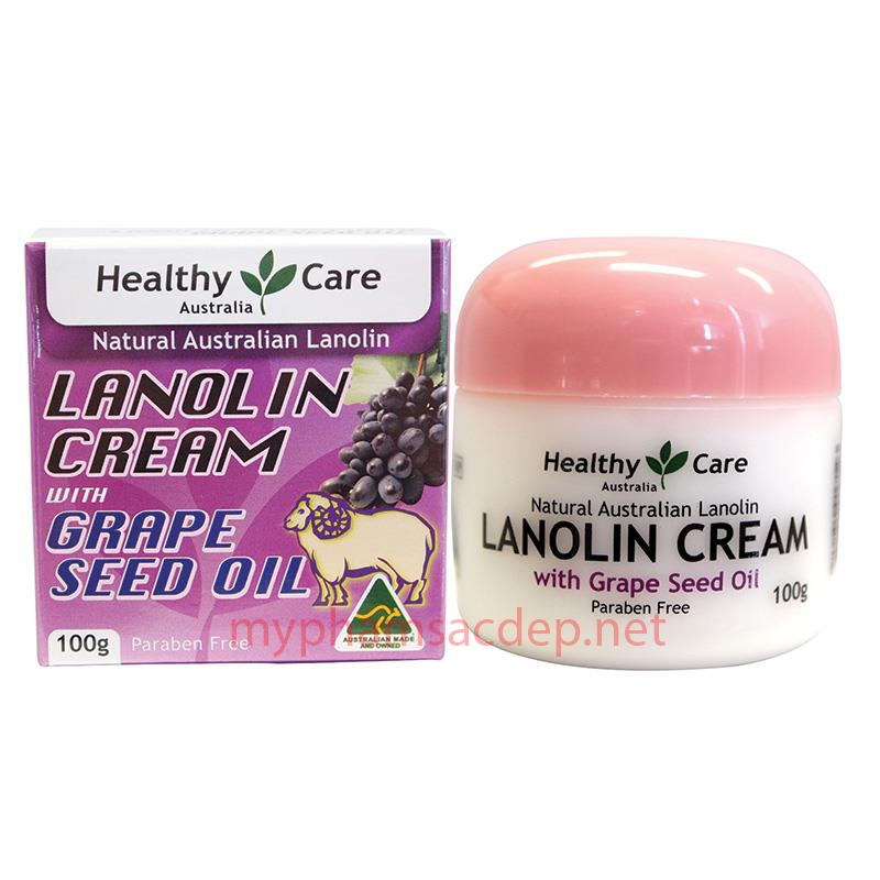 Kem dưỡng Healthy Care Lanolin Cream with Grape Seed Oil-0