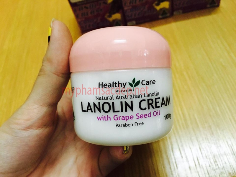 Kem dưỡng Healthy Care Lanolin Cream with Grape Seed Oil-2