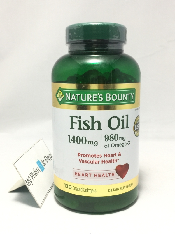 Dầu cá Natures Bounty Fish Oil 1400 mg Omega 3-3