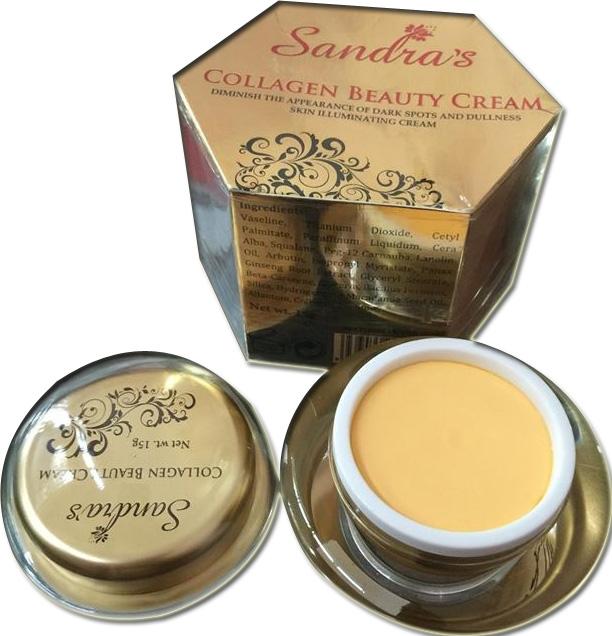 Kem dưỡng trắng da chống lão hóa sandra collagen beauty cream - 01