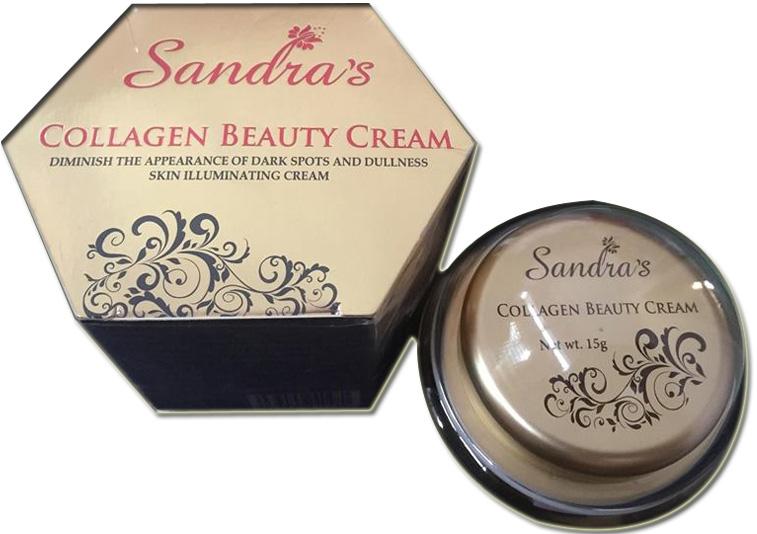Kem dưỡng trắng da chống lão hóa sandra collagen beauty cream