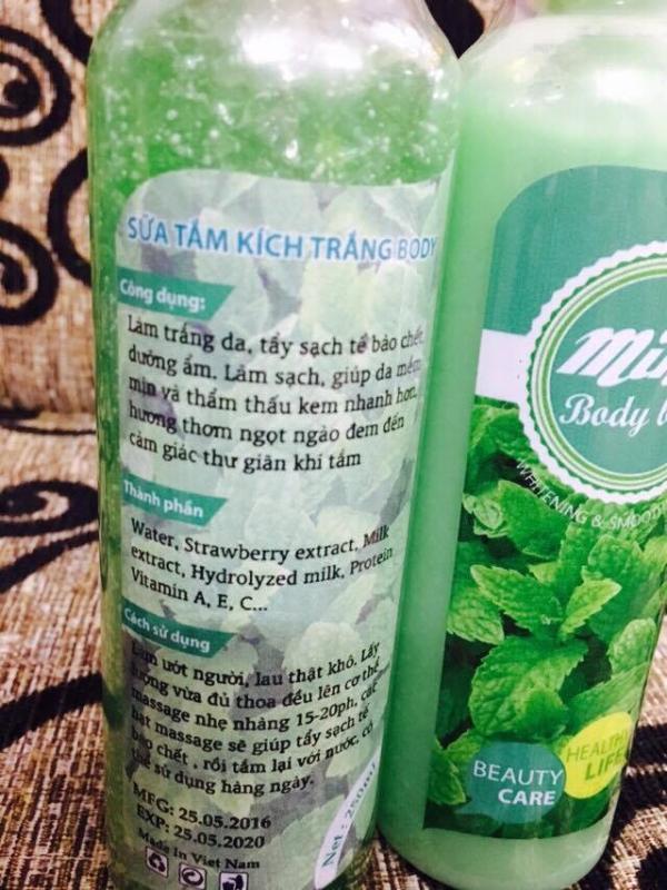 Sữa tắm kích trắng dâu bạc hà nho body bath giá sỉ tphcm - 02