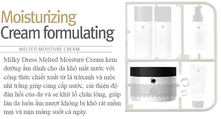 Kem dưỡng ẩm cho da khô Milky Dress Melted Moisture Cream tại tphcm - 03