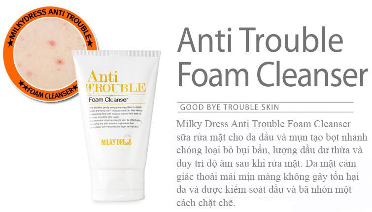 Sữa rửa mặt cho da dầu mụn Milky Dress Anti Trouble giá tốt nhất tphcm - 03
