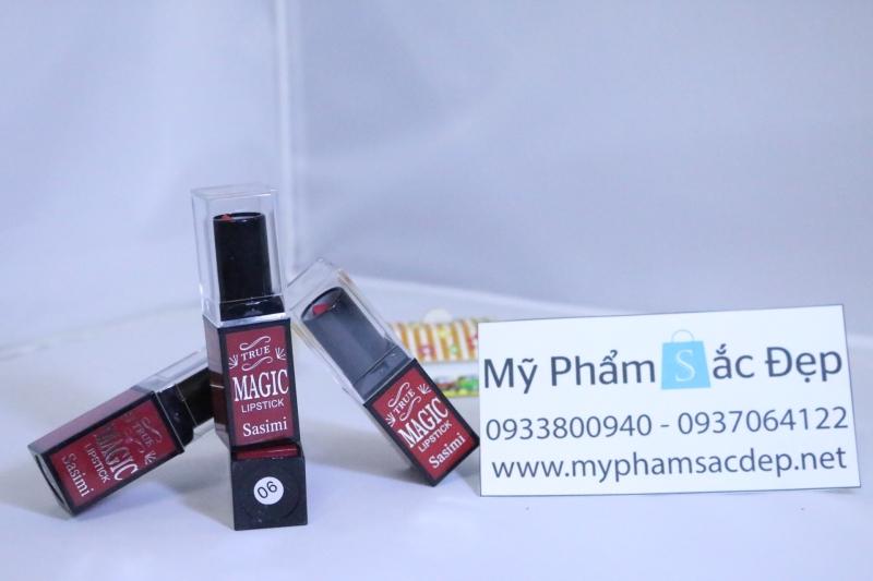 Son lỳ magic lipstick sasimi màu đỏ số 06 - 03