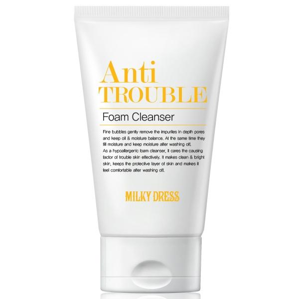 Sữa rửa mặt cho da dầu mụn Milky Dress Anti Trouble giá tốt nhất tphcm - 01