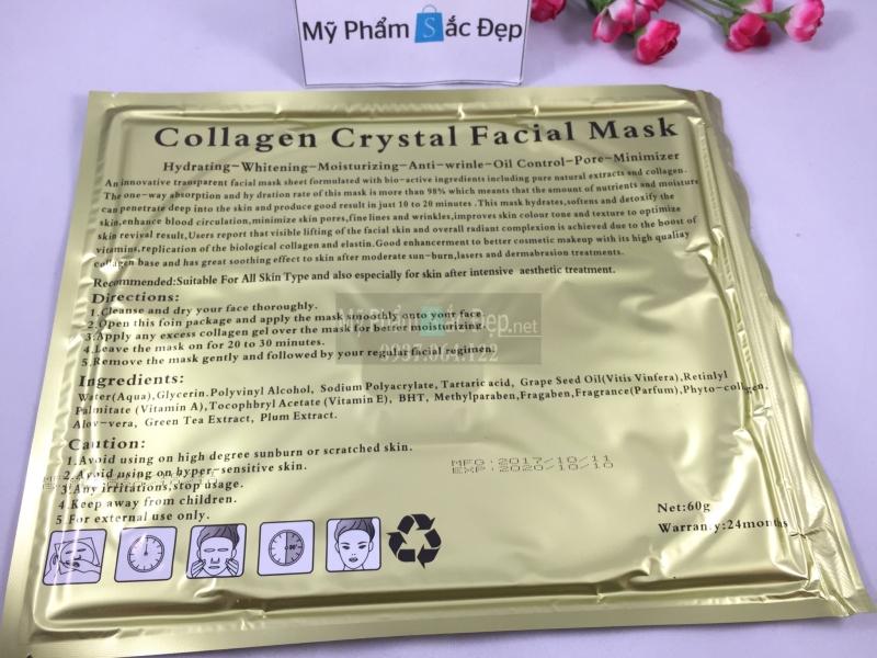 Bán đắp mặt nạ collagen crystal facial mask giá sỉ tốt nhất tại tphcm - 02