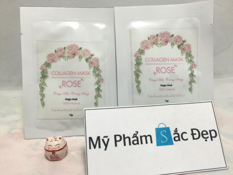 Mặt nạ collagen hoa hồng tươi magic mask giá sỉ tốt nhất tại tphcm - 01