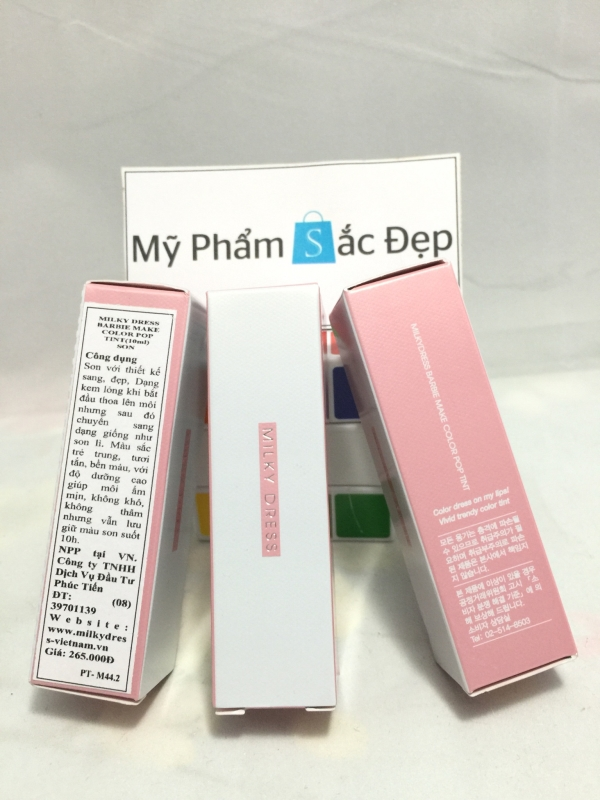 Son kem milky dress hàn quốc hồng cam chính hãng giá tốt nhất tphcm - 03
