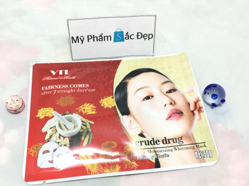 Đắp mặt nạ thuốc bắc VTL crude drug dưỡng trắng da giá sỉ tại tphcm - 01