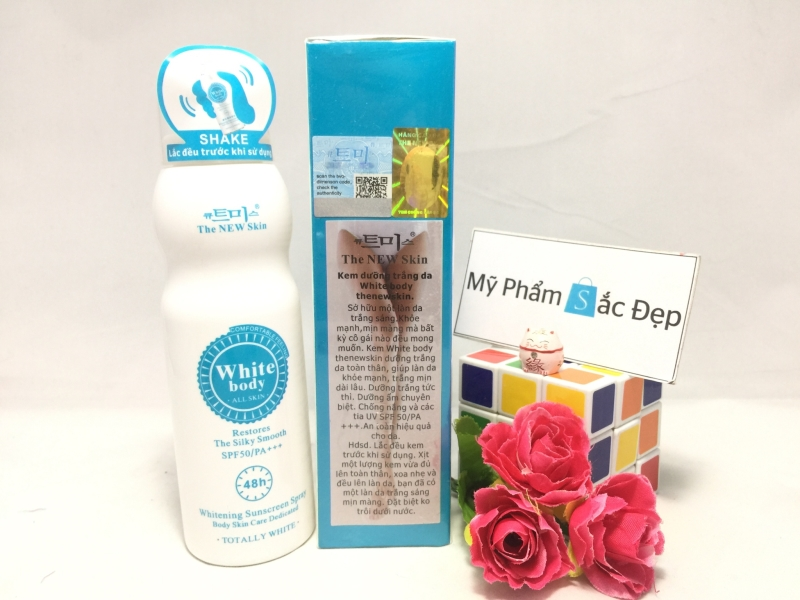 Kem xịt dưỡng trắng da White body the new skin 48h giá tốt tại tphcm - 01