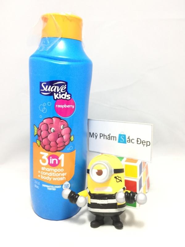 Sữa tắm gội và xả suave kid 3 in 1 665ml raspberry của Mỹ tại tphcm - 04