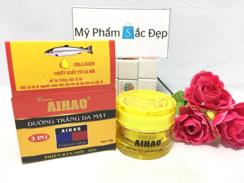 Kem dưỡng trắng da mặt ngọc trai Aihao 3 in 1 chính hãng tại tphcm - 01
