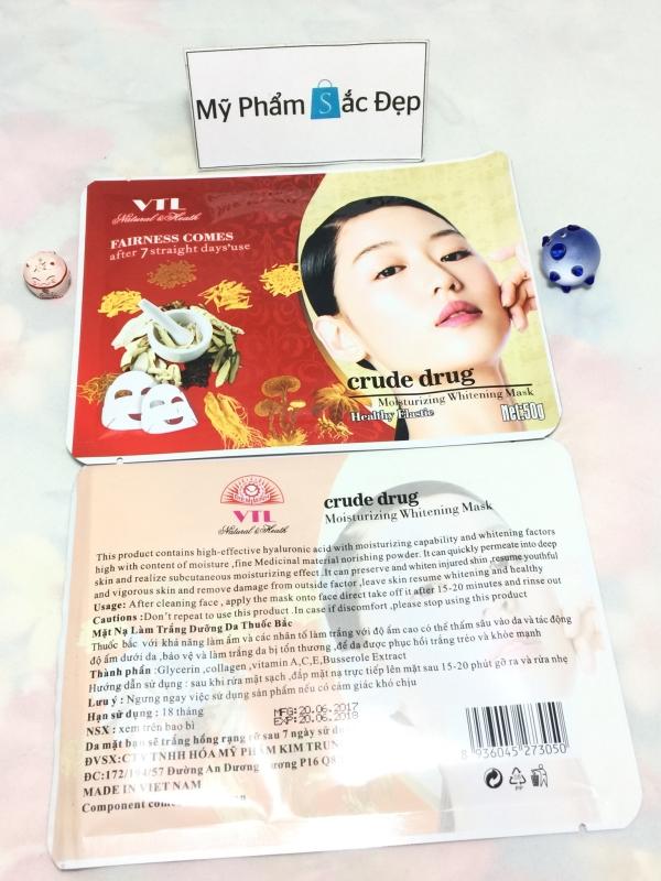 Đắp mặt nạ thuốc bắc VTL crude drug dưỡng trắng da giá sỉ tại tphcm - 03