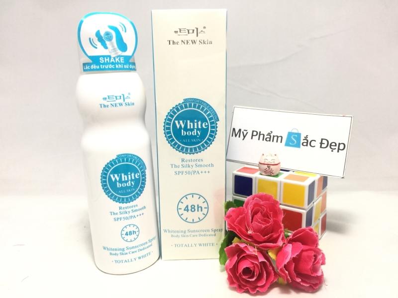 Kem xịt dưỡng trắng da White body the new skin 48h giá tốt tại tphcm - 03