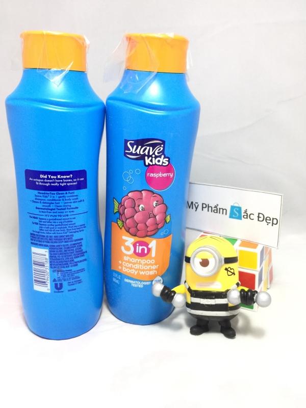 Sữa tắm gội và xả suave kid 3 in 1 665ml raspberry của Mỹ tại tphcm - 03