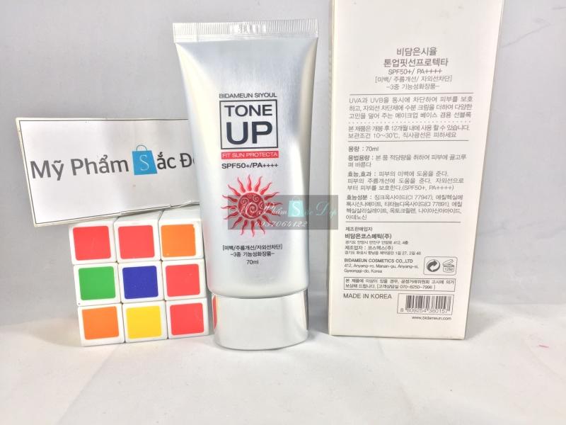 Kem chống nắng nâng tông màu da SPF 50 PA Bidameun Hàn Quốc tại tphcm - 02