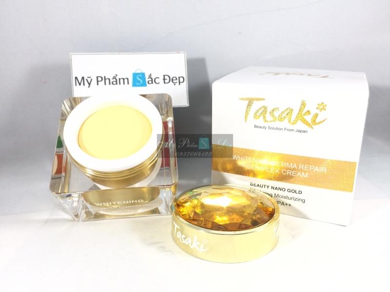 Kem Tasaki dưỡng trắng da chống lão hóa vàng nano 25g giá tốt tphcm - 02