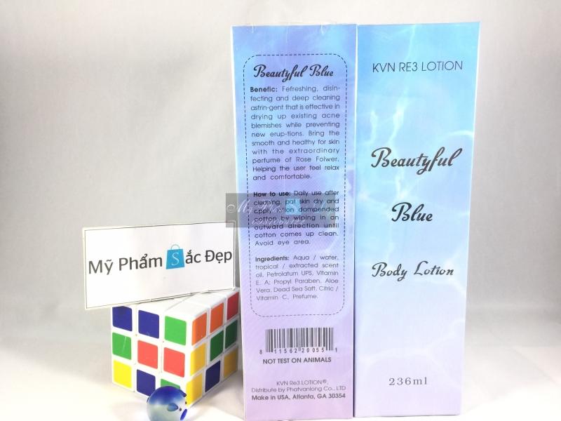 Sữa dưỡng ẩm trắng da toàn thân Body Lotion Beautiful Blue của Mỹ - 02