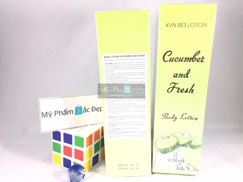 Sữa dưỡng ẩm trắng da toàn thân tinh chất dưa leo Cucumber and Fresh - 02