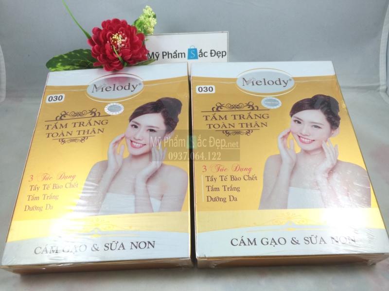 Tắm trắng toàn thân Melody cám gạo và sữa non 3 tác dụng giá tốt tphcm - 02