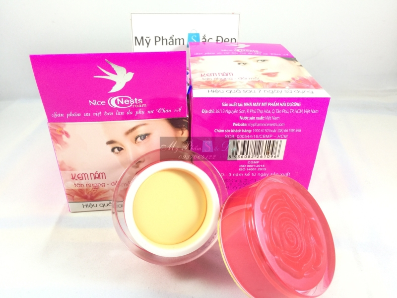 Kem Nice Nests Cream nám tàng nhang đồi mồi hàng chính hãng tại tphcm - 01