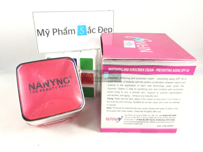 Kem NANYNO dưỡng trắng da chống nắng SPF 50 cao cấp giá tốt nhất tphcm - 03