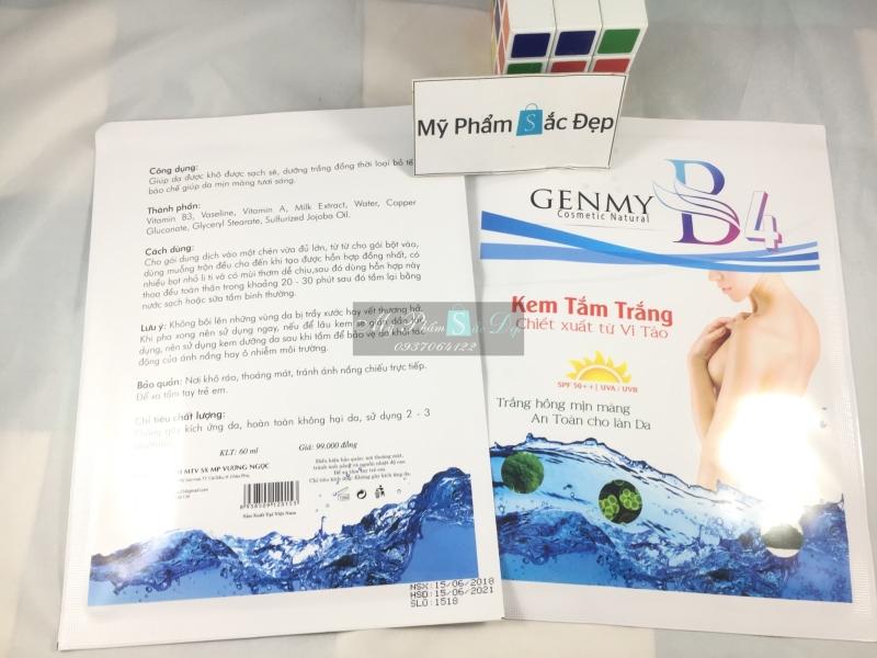 Kem tắm trắng GENMY B4 chiết xuất từ vi tảo chính hãng giá tốt tphcm - 01