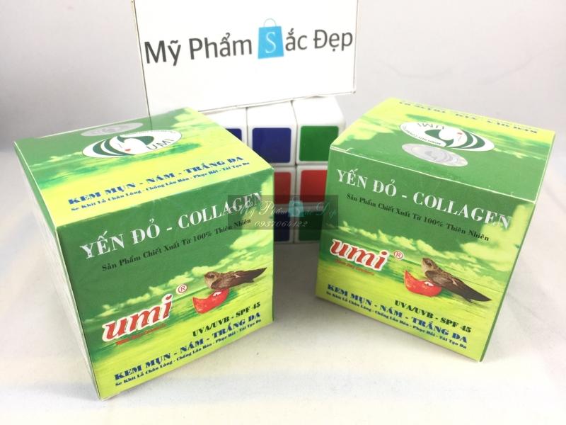 Kem yến đỏ UMI Collagen ngừa mụn nám trắng da 15g giá tốt nhất tphcm - 02