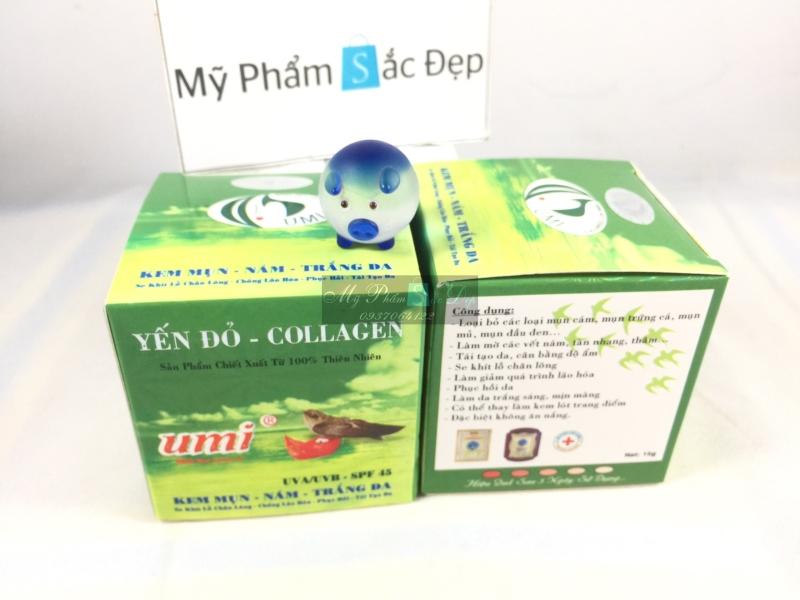 Kem yến đỏ UMI Collagen ngừa mụn nám trắng da 15g giá tốt nhất tphcm - 01