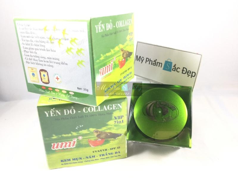 Kem UMI yến đỏ Collagen 7 in 1 VIP mụn nám trắng da 25g giá tốt tphcm - 02