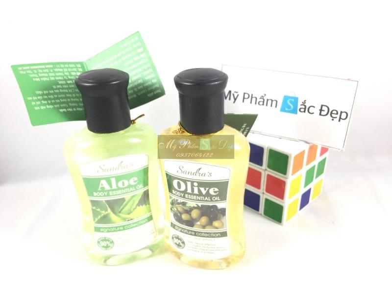 Tinh dầu Olive massage toàn thân Sandras Beauty chính hãng tại tphcm - 02