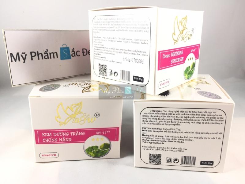 Kem B&W dưỡng trắng da chống nắng 15g lá neem bông cải giá tốt tphcm - 01